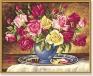 Букет роз Раскраска по номерам, 40 см х 50 см Серия: Meisterklasse Premium артикул 1469a.
