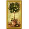 """Раскраска по номерам """"Лимонное дерево"""" нумерации красок, контрольный лист, инструкция артикул 8317a."""